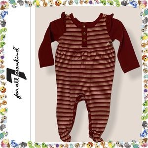 7 For All Mankind Infant Girls One Piece Footie